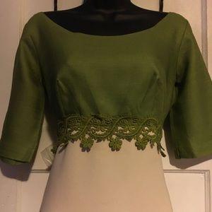 Vintage Dresses - Vintage Dress With Green Top